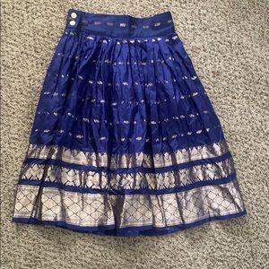 Vintage Embroidered Silk Skirt
